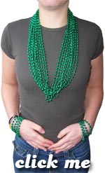St. Patrick's Day Throw Beads